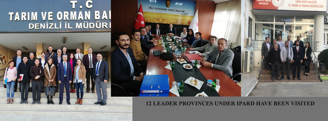 12 LEADER PROVINCES UNDER IPARD HAVE BEEN VISITED