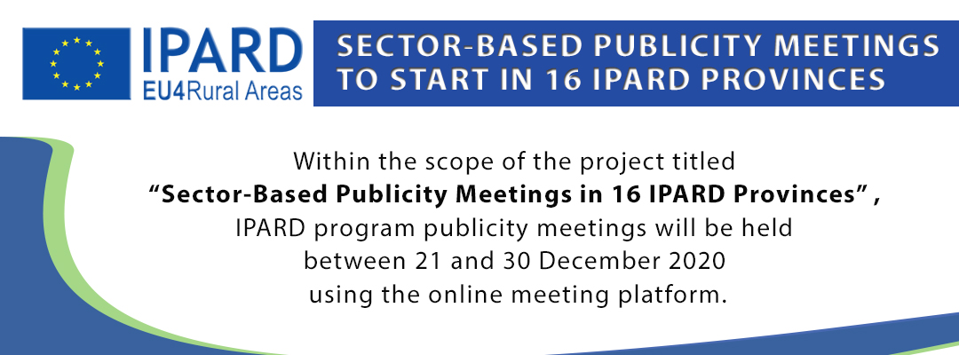 SECTOR-BASED PUBLICITY MEETINGS TO START IN 16 IPARD PROVINCES